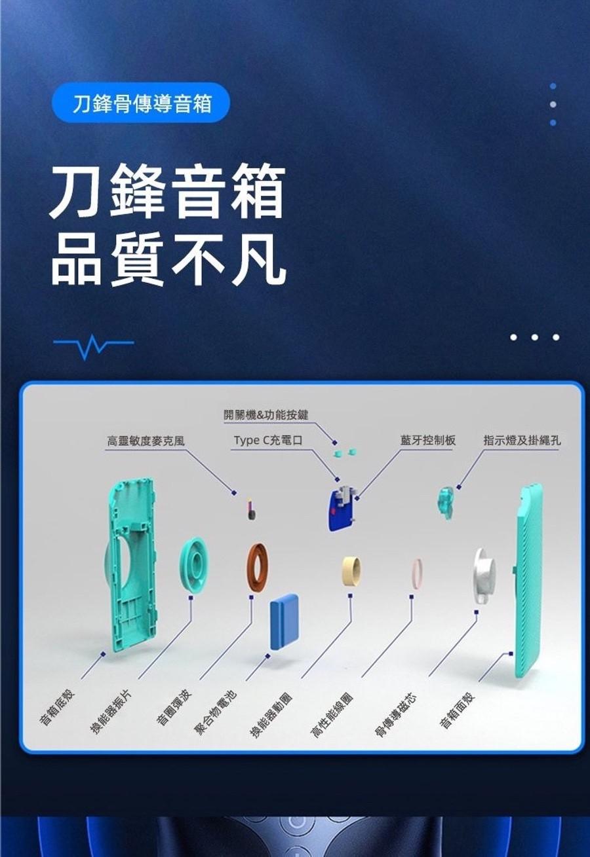 Bocoice Blade Speaker 3mm 無線骨傳導喇叭
