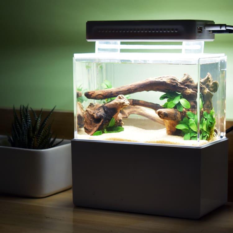 辦公室微型迷你桌面過濾生態小魚缸