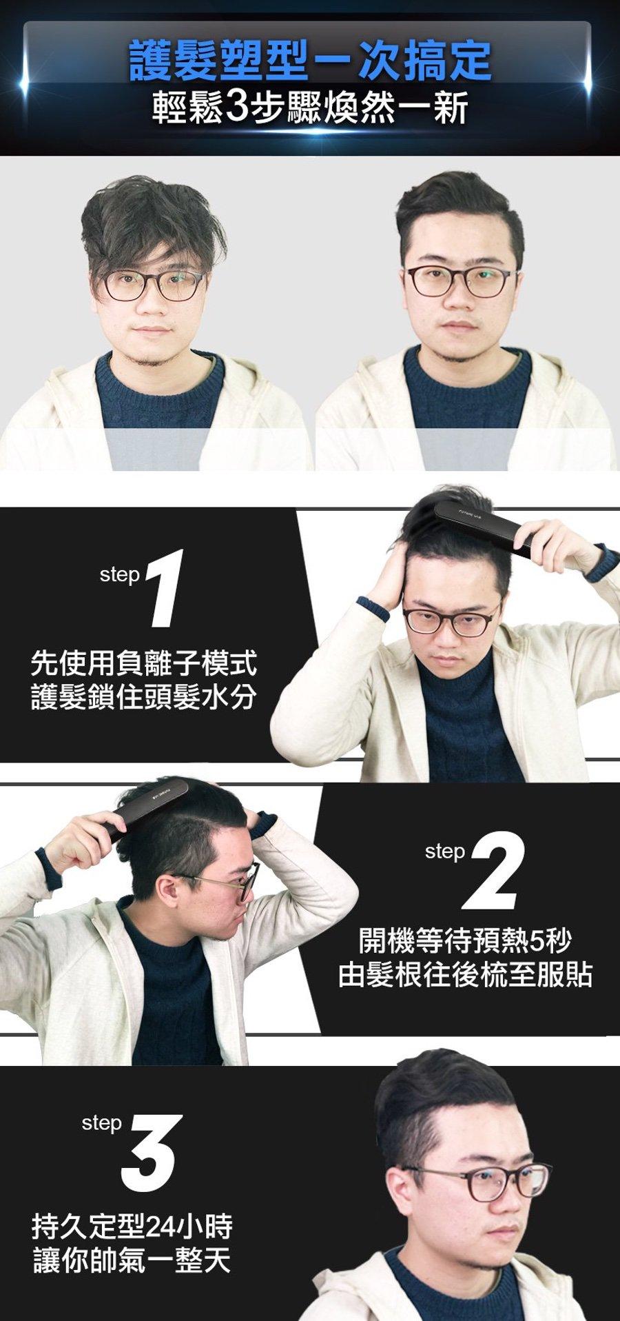 台灣 Future Lab 未來實驗室 Nion 負離子燙髮梳