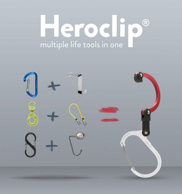新一代 美國Heroclip 多功能扣環掛勾 Mini