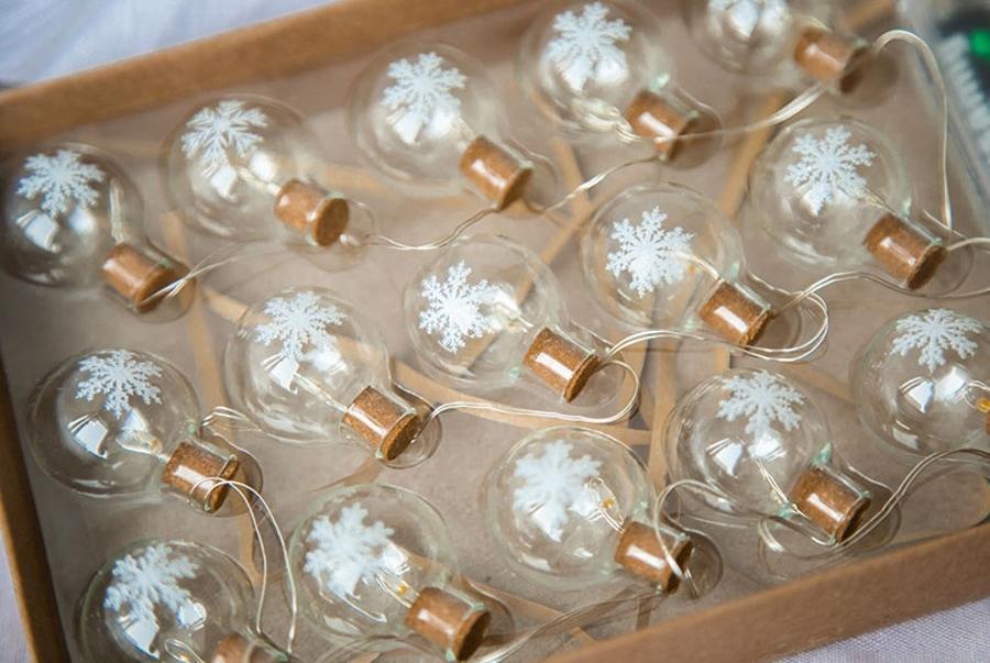 Hromeo 玻璃球聖誕燈串