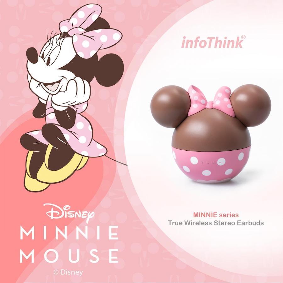 InfoThink 米奇 / 米妮系列真無線藍牙耳機 (草莓巧克力限定造型) ITWS-100