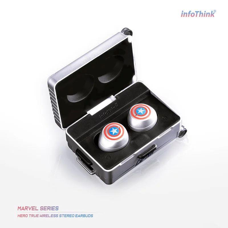 InfoThink 漫威系列 Les héros 真無線藍牙耳機- 美國隊長 iTWS100-CA