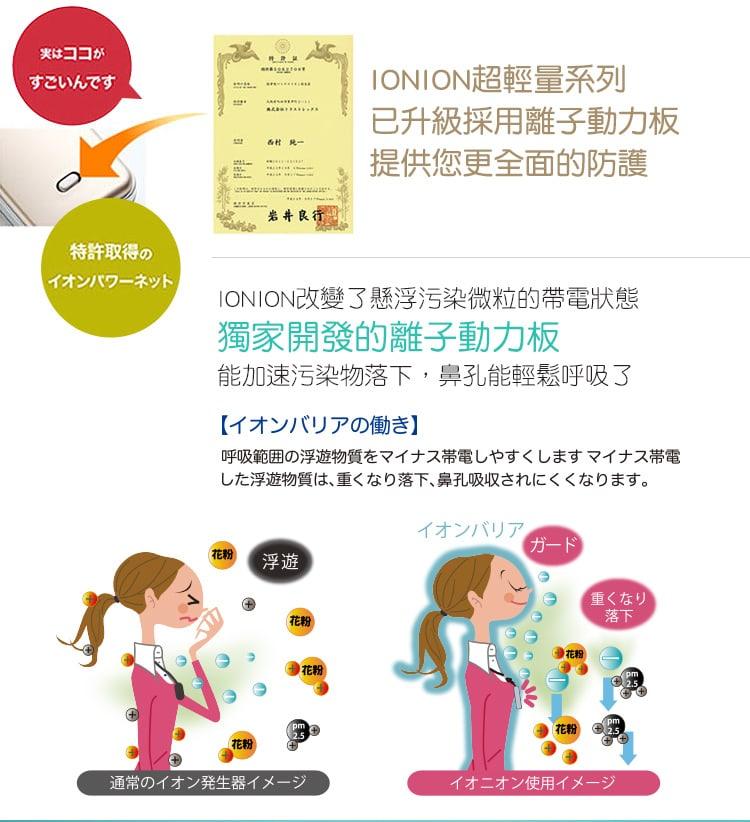 日本IONION MX超輕量隨身空氣清淨機