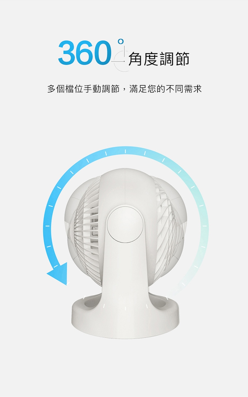 Iris Ohyama 靜音床頭空氣循環扇 PCF-HE15