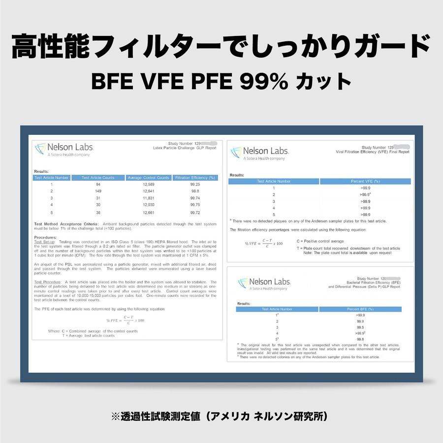 日本三層防護口罩 BFE VFE PFE 99.9(日本直送)