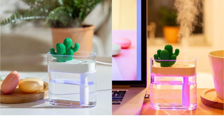 3life 景 透明仙人掌迷你USB加濕器