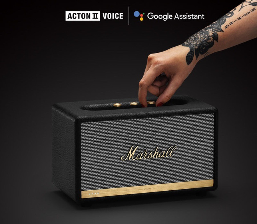 Marshall Acton II With Voice Google 藍牙喇叭 + Minor II 入耳式藍芽耳機 套裝