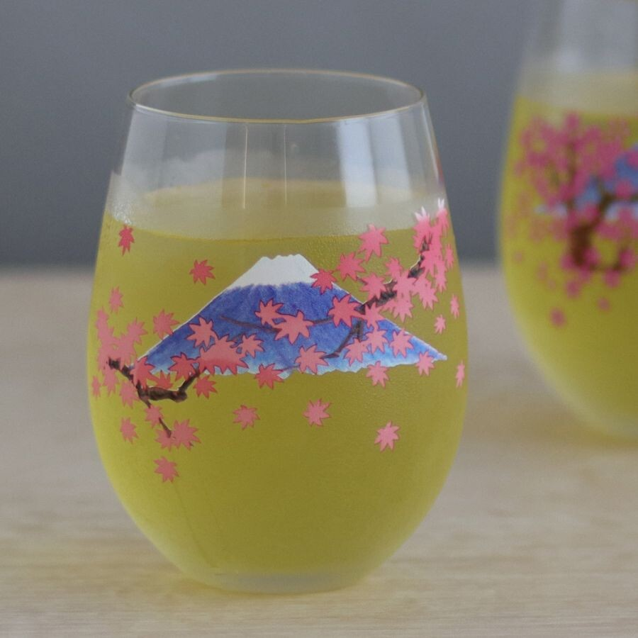 富士山冷感變色杯 櫻花/楓葉(日本直送)