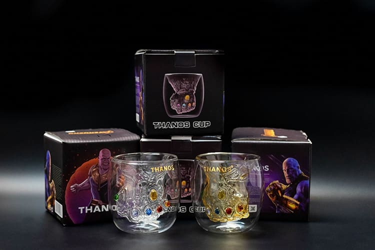 復仇者聯盟 Avengers 滅霸 無限手套 玻璃杯