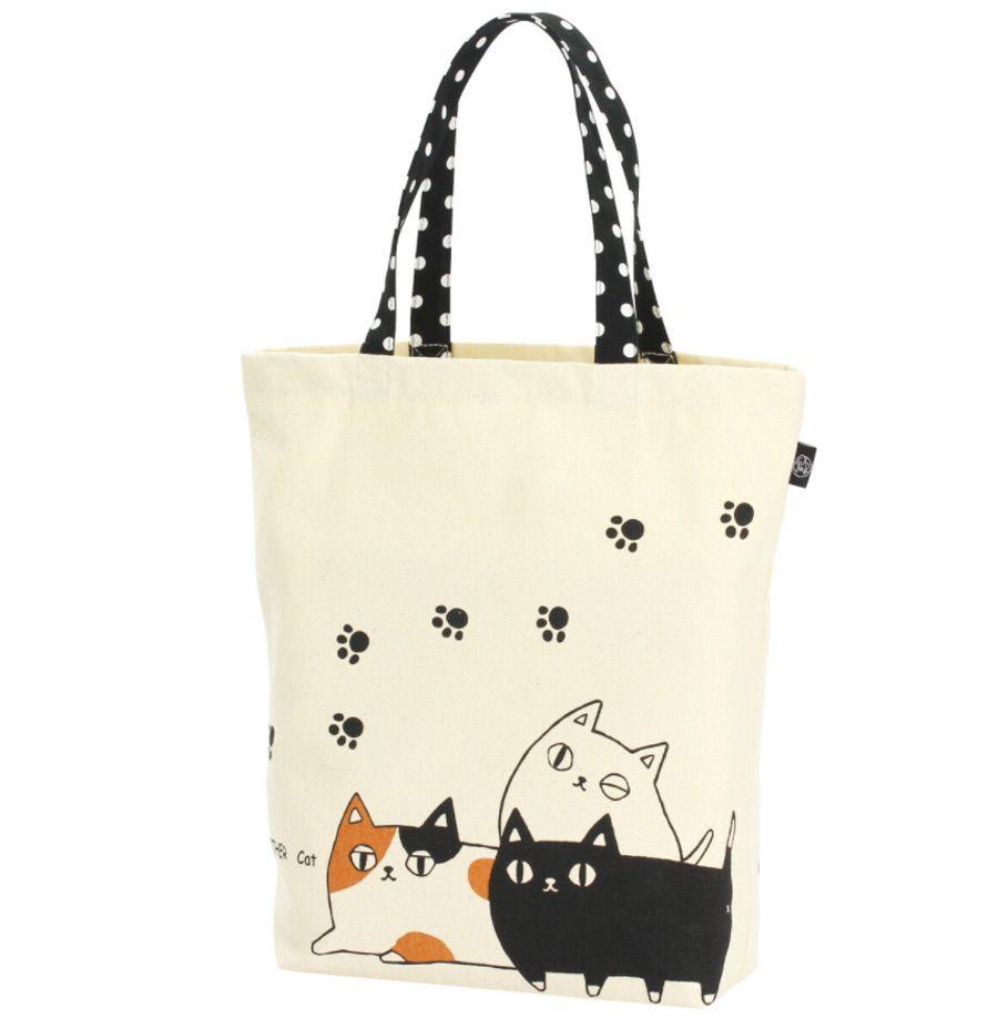 Neko Sankyodai 貓三兄弟 單肩布袋 (日本直送)