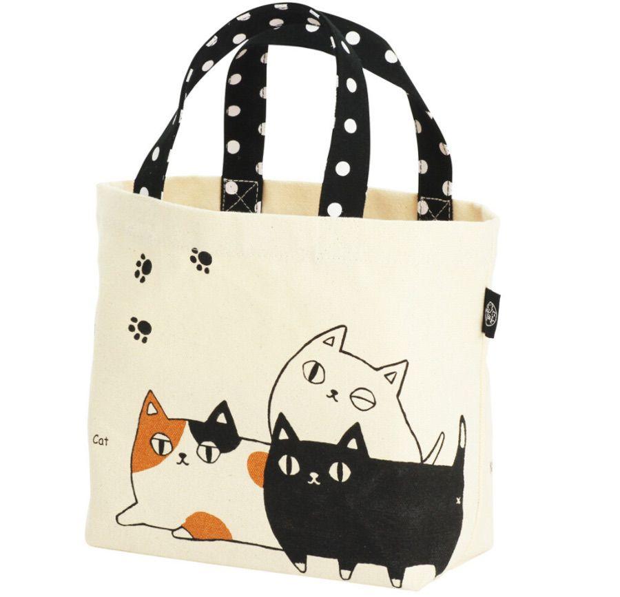 Neko Sankyodai 貓三兄弟 小型手挽布袋 (日本直送)