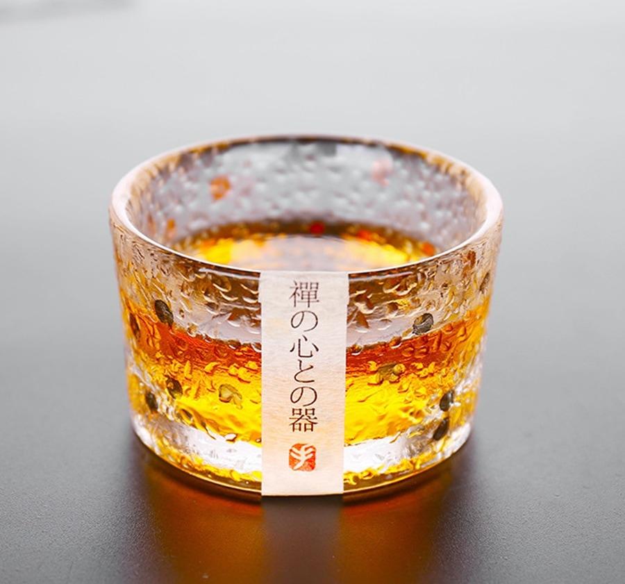 日式手工錘紋玻璃杯
