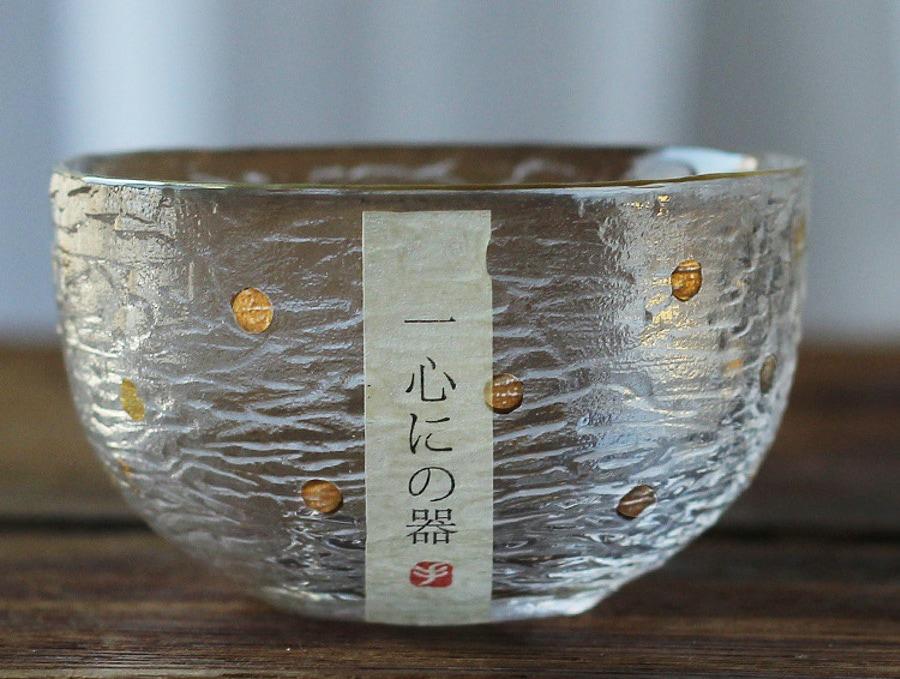 日式手工錘紋圓底玻璃杯