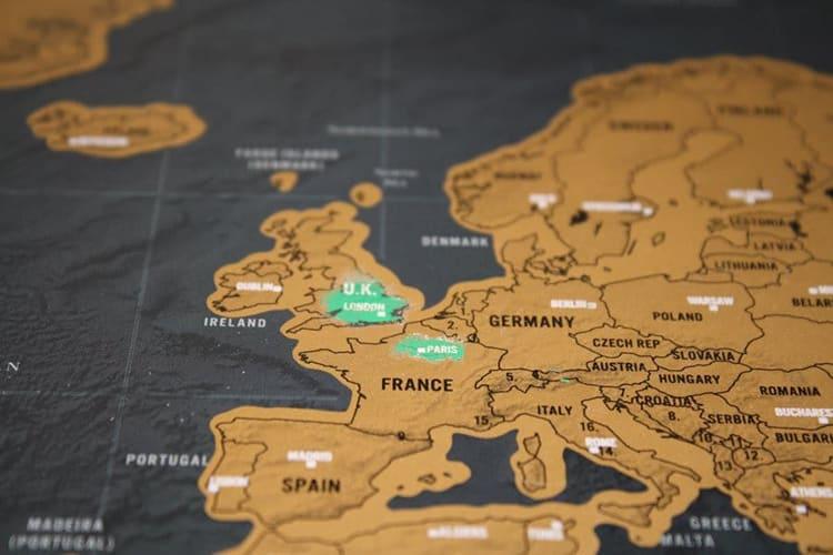 黑金刮刮旅游地圖 (大)