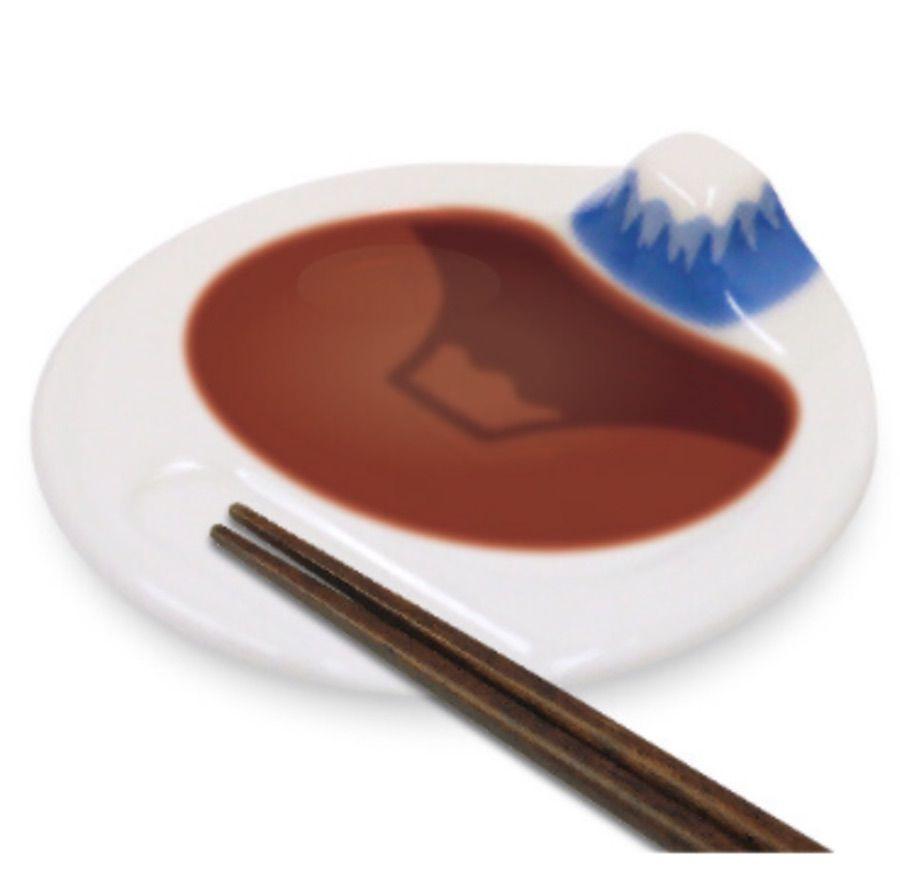 富士山倒影醬油碟