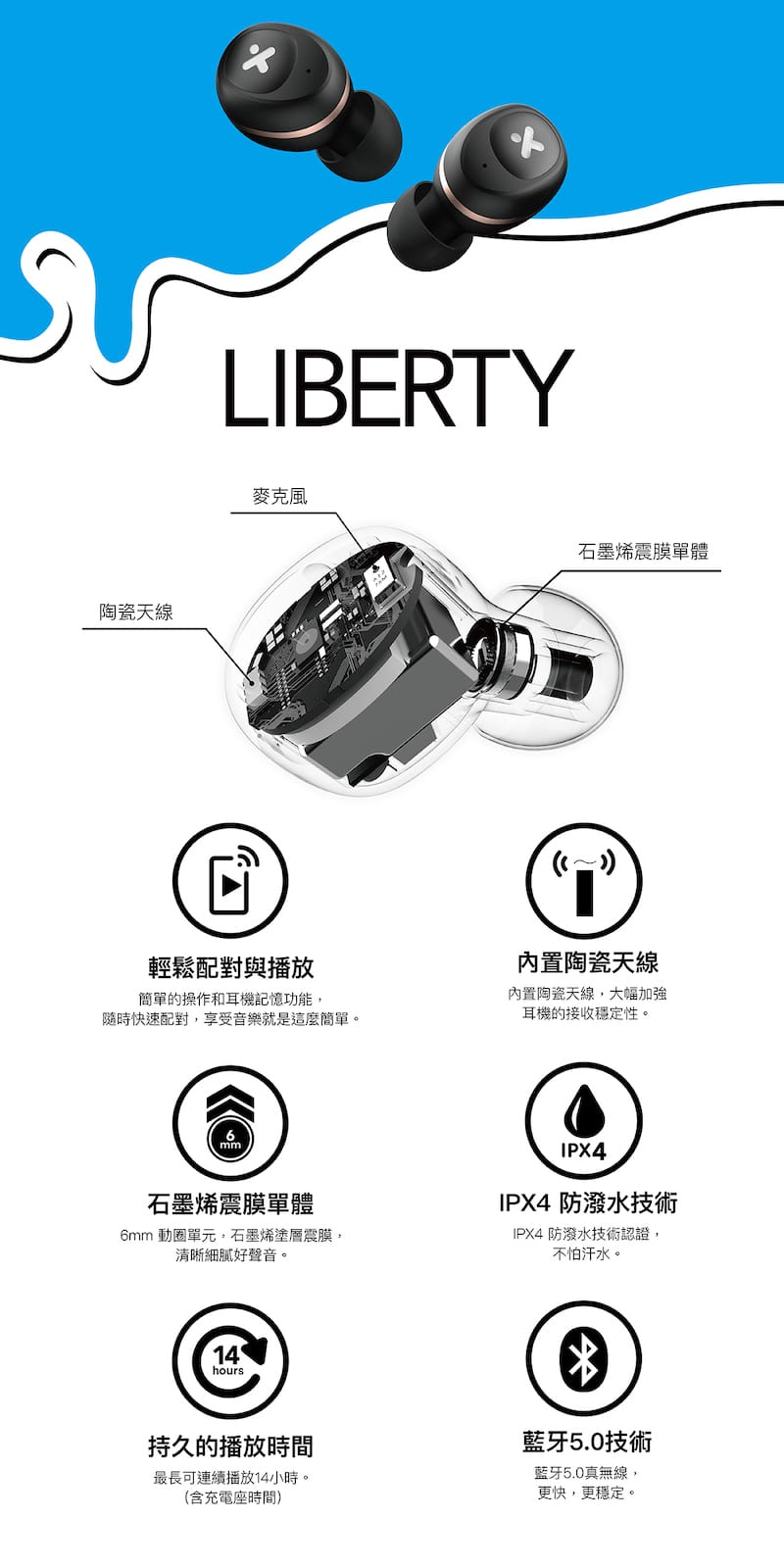 X-mini Liberty 真無線藍牙耳機