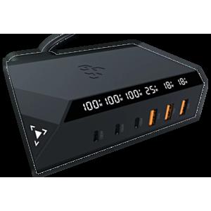 EGO-EXINNO-120W-即時輸出顯示-6洞USB充電器