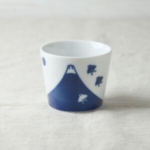 富士山鳥紋豬口杯(日本直送)