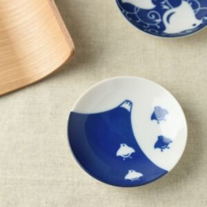 富士山鳥紋瓷碟(日本直送)