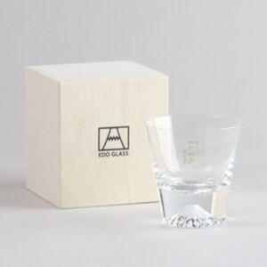 江戶硝子 富士山水晶玻璃杯 (日本直送)