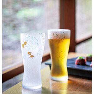 石塚硝子夏日花火啤酒玻璃杯禮盒(日本直送)