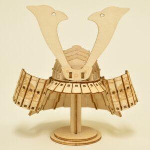 日本武士頭盔木製模型(日本直送)