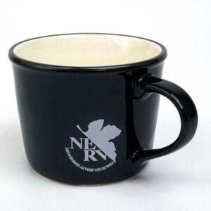 EVANGELION 黑色 NERV 馬克杯 (日本直送)