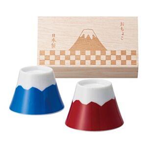 日本富士山清酒一合盃套裝連木盒(日本直送)
