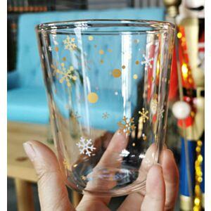 金色聖誕節玻璃杯