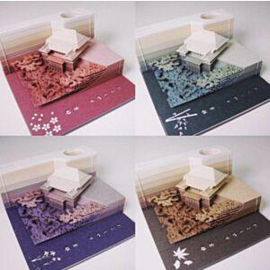 Omoshiroi Block 清水寺紙雕模型紙箋