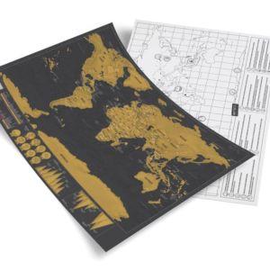 黑金刮刮旅游地圖 (細)