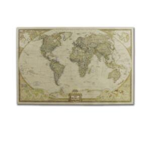 世界地圖復古牛皮紙海報