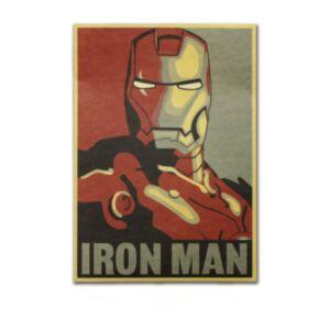 Ironman 漫畫頭像復古牛皮紙海報