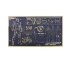Ironman設計圖牛皮紙海報