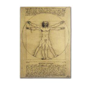 達芬奇手繪稿牛皮紙海報