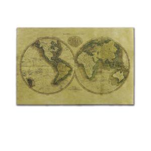 老版世界地圖牛皮紙海報