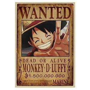 海賊王路飛復古牛皮紙海報