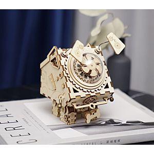 Robotime Rokr 木質音樂盒拼裝模型 Seymour 狗狗西摩兒