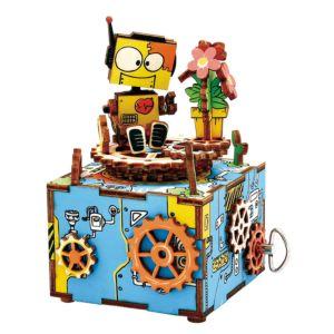 Robotime 八個音符的狂想 DIY 木質 音樂盒 寄與綻放 AM305 Over the rainbow