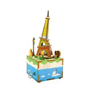 Robotime 八個音符的狂想 DIY 木質 音樂盒 浪漫鐵塔 AM308 Moon river