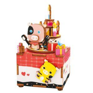 Robotime 八個音符的狂想 DIY 木質 音樂盒 甜心物語 AM309 Summer memories