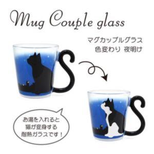 遇熱變色貓咪玻璃杯(日本直送)