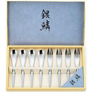 日本Tamahashi 銀鱗 咖啡湯匙/點心叉子 禮盒套裝 (日本直送)