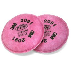 3M™ - 2091 P100 顆粒物過濾棉(1對)