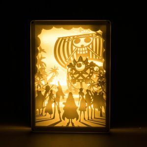 DIY 光影紙雕燈 One Piece 海賊王 前進梅利號