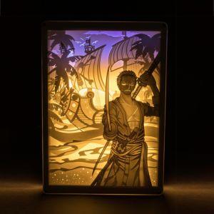 DIY 光影紙雕燈 One Piece 海賊王 索羅